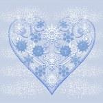 hart van sneeuwvlokken — Stockvector  #33365603