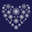 Heart from snowflakes — Vettoriali Stock