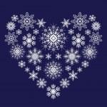corazón de copos de nieve — Vector de stock  #33365625
