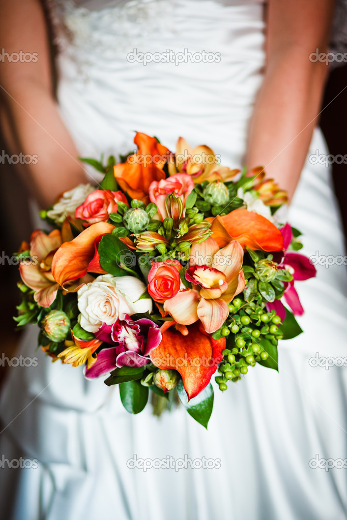Close up of wedding bouquet — Stock Photo #13121417