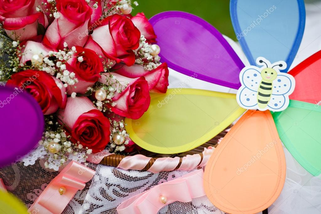 Close up of wedding bouquet — Stock Photo #13121802
