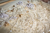 Wedding dress close up — Stock Photo