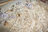 Wedding dress close up — Stock Photo