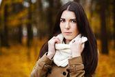 Beautiful elegant woman. autumn — Stock Photo