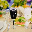 Stock Photo: Table set for wedding reception
