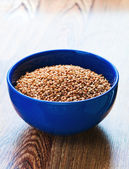Boiled buckwheat in a bowl — Stock Photo