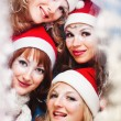 Royalty-Free Stock Photo: Beautiful women wearing a santa hat