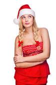 Sexy woman dressed as Santa Claus — Stock Photo