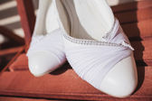 Beautiful bride's shoes — ストック写真
