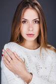 Portrait of beautiful lady — Stock Photo