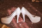 Beautiful bride's shoes — Stock Photo