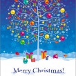 Christmas greeting card — Stock Vector #13621359