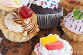 蛋糕背景 — 图库照片