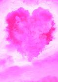 Nuvem em forma de coração — Foto Stock