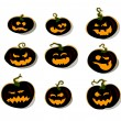 Set of halloween pumpkins — Stock Vector #13446146