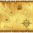 Ancient map - Stock Vector