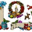 Royalty-Free Stock Vektorfiler: Christmas set