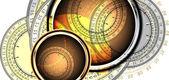 часы фон — Cтоковый вектор