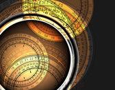 Zegary tło — Wektor stockowy