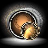 钟表背景 — 图库矢量图片