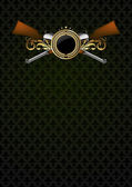 Ornamental shield with arms — Vecteur