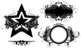 Set of ornamental elements — Stock Vector