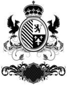 Set sier heraldische elementen — Stockvector