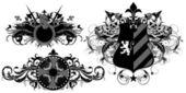 Set of ornamental heraldic shields — Wektor stockowy
