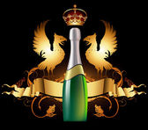 Background with champagne — Stockvektor