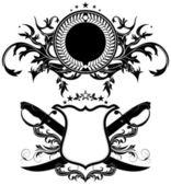 Set di scudi ornamentali — Vecteur