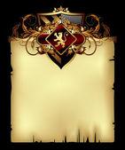 Paper background with shield — Vetor de Stock