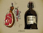 Piwo tło — Wektor stockowy