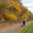Autumn healthy walk — Stock Photo #14023959