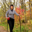 Autumn healthy walk — Stock Photo