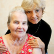Daughter with elderly mother — Stock Photo