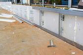 Insulation of building facade — Stock Photo
