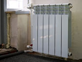 Bimetal radiator — Stock Photo
