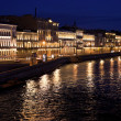 Stock Photo: Night St. Petersburg. View of Neva