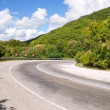 Turn of mountain road — Stock Photo