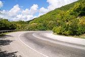 Turn of mountain road — Stock Photo