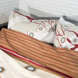 Foto de Stock  : Bed and bedding: pillows and blankets