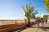 Lasarevskoye promenade of the resort in the Krasnodar region in Russia — Stock Photo