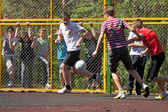 Youth football yard — Stock Photo