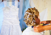 Bride hairstyle — Stock Photo