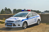 DPS car is on side of repaired road M-4 Don — Stock Photo