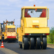 Asphalt paving of the road — Stock Photo