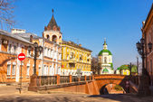 Voronezh March sunny day. Stone Bridge — Stock Photo