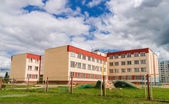 Building of modern Russian school — Stock Photo