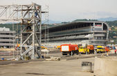 Building site of line the Formula 1 in Sochi — Stock Photo