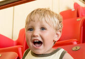 Emotional child with open mouth — Stock Photo